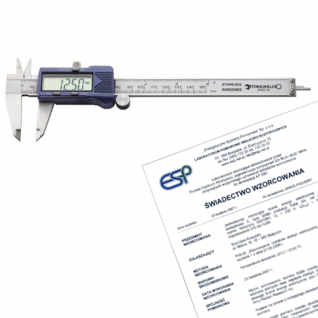Suwmiarka elektroniczna 150 mm + świadectwo wzorcowania